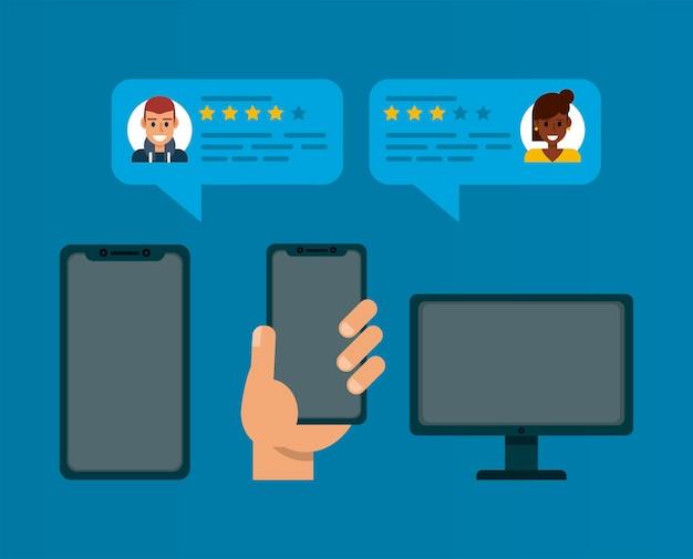 Dispositivos de revisão online