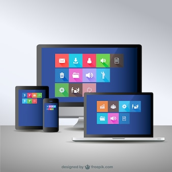Dispositivos eletrônicos conceito de design responsivo