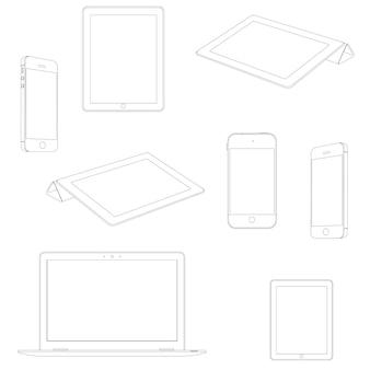 Dispositivos eletrônicos, conjunto