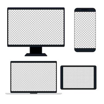 Dispositivos eletrônicos, dispositivo realista, modelo para um conteúdo