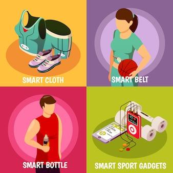Dispositivos esportivos vestíveis isométricos