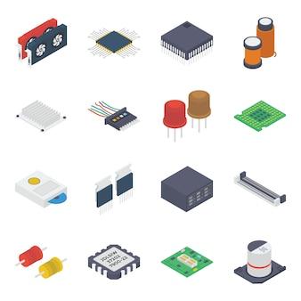 Dispositivos internos para pc isométricos