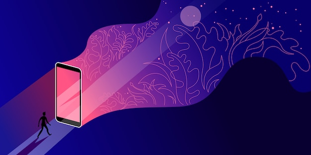 Dispositivos móveis como um guia no novo mundo da civilização digital.