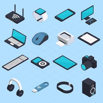 Dispositivos móveis sem fio isométricos