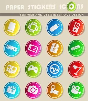Dispositivos simplesmente símbolos para web e interface de usuário