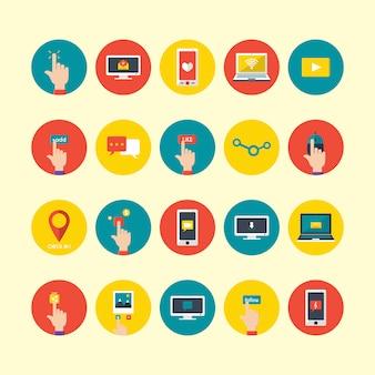 Dispositivos tecnológicos ícones coleção