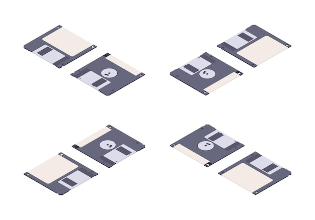 Disquete plano isométrico, disquete