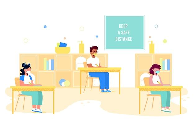 Distância social na escola