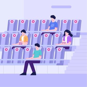 Distanciamento social em salas de cinema