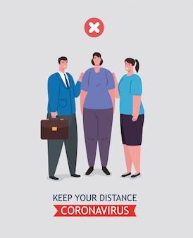 Distanciamento social feito de maneira errada, pessoas mantendo distância não segura, prevenção contra o coronavírus 19