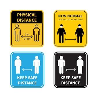 Distanciamento social mantenha a distância de 12 metros