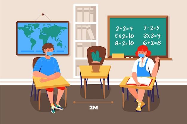 Distanciamento social na escola