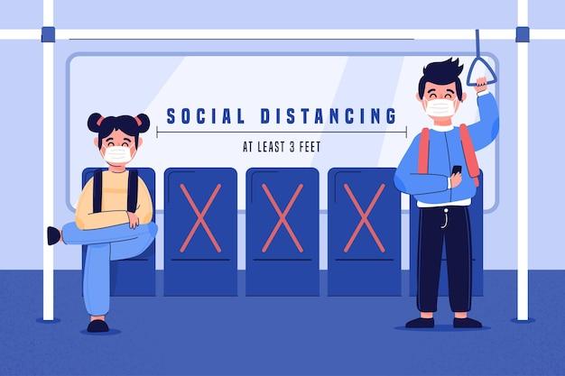 Distanciamento social no transporte público