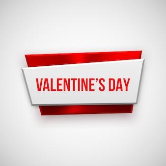 Distintivo abstrato vermelho de dia dos namorados