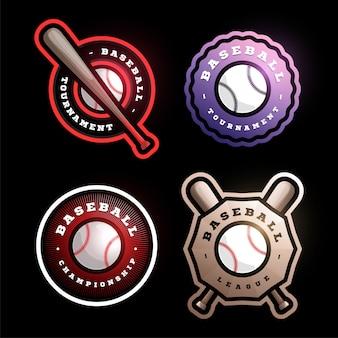 Distintivo circular de beisebol