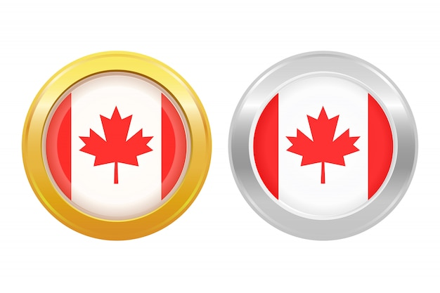 Distintivo de bandeira do canadá
