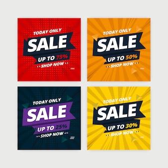 Distintivo de banner de venda