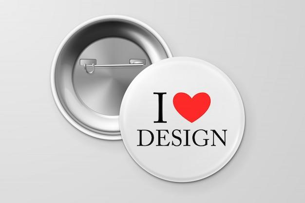 Distintivo de botão.