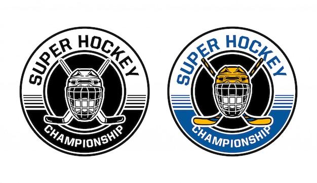 Distintivo de círculo de campeonato de hóquei no gelo