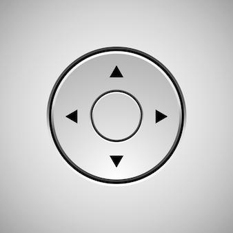Distintivo de círculo liso branco