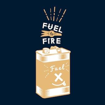 Distintivo de combustível de acampamento