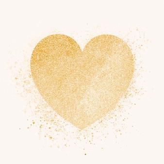 Distintivo de coração de ouro