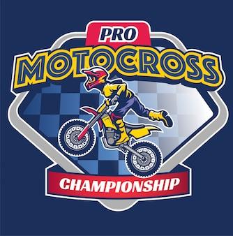 Distintivo de corrida de motocross