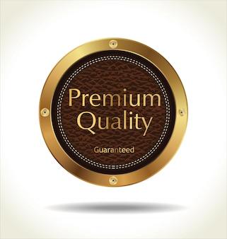 Distintivo de couro de qualidade premium