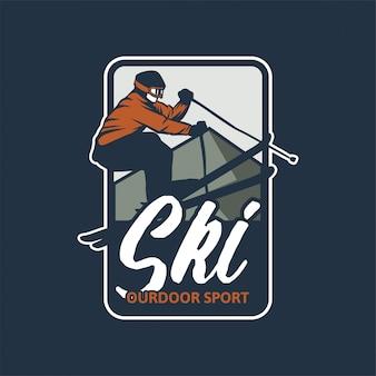 Distintivo de esporte ao ar livre de esqui