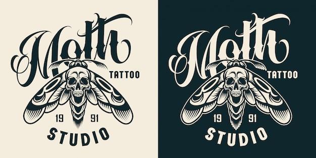 Distintivo de estúdio de tatuagem vintage