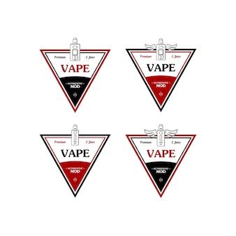 Distintivo de etiqueta retro de e-cigarro com vaporizador pessoal de cigarro elétrico