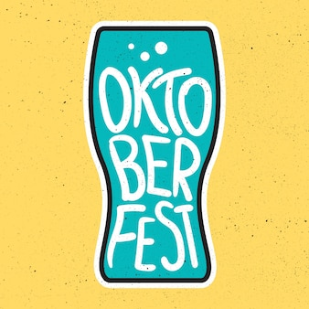 Distintivo de letras da oktoberfest