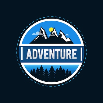 Distintivo de logotipo de aventura