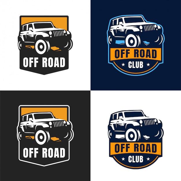 Distintivo de logotipo de carro off road