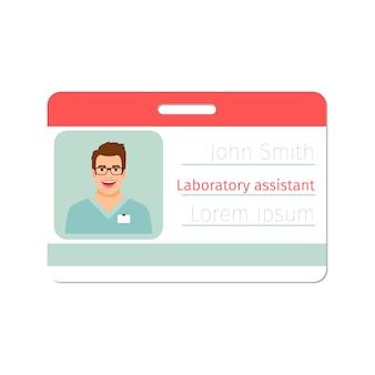 Distintivo de médico especialista de assistente de laboratório