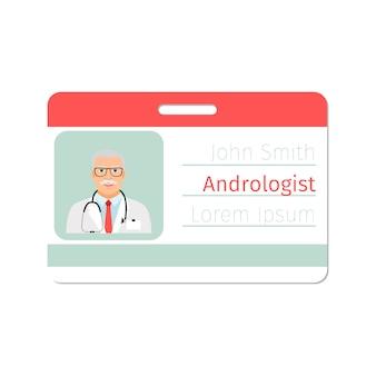 Distintivo de médico especialista em andrologista