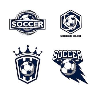 Distintivo de modelo de logotipo de futebol