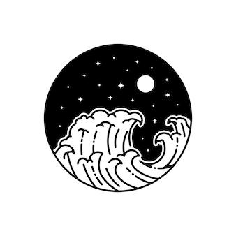 Distintivo de monoline ao ar livre de tatto