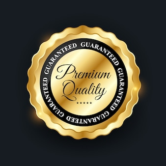 Distintivo de ouro de qualidade premium