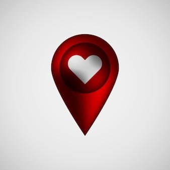 Distintivo de ponteiro de mapa de bolha vermelha