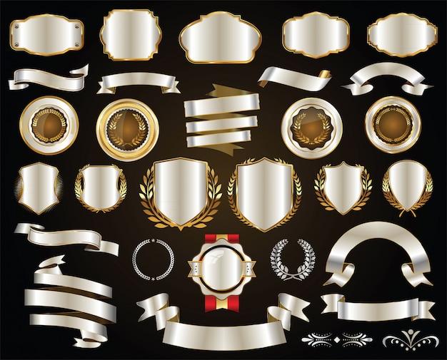 Distintivo de prata retrô