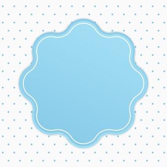 Distintivo de quadro de texto arredondado elegante com fundo de bolinhas