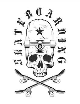 Distintivo de skate vintage