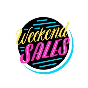 Distintivo de vendas de fim de semana