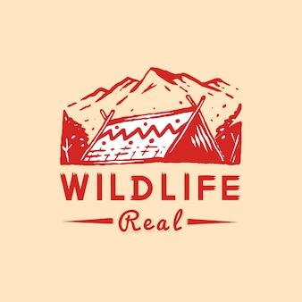 Distintivo de vida selvagem e aventura