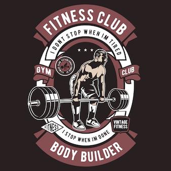Distintivo do clube de fitness