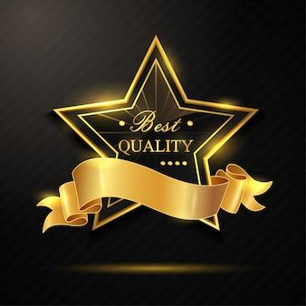 Distintivo dourado de melhor qualidade