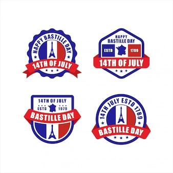 Distintivo feliz dia da bastilha 14 de julho coleção paris frança