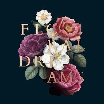 Distintivo floral dos sonhos