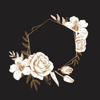 Distintivo floral romântico